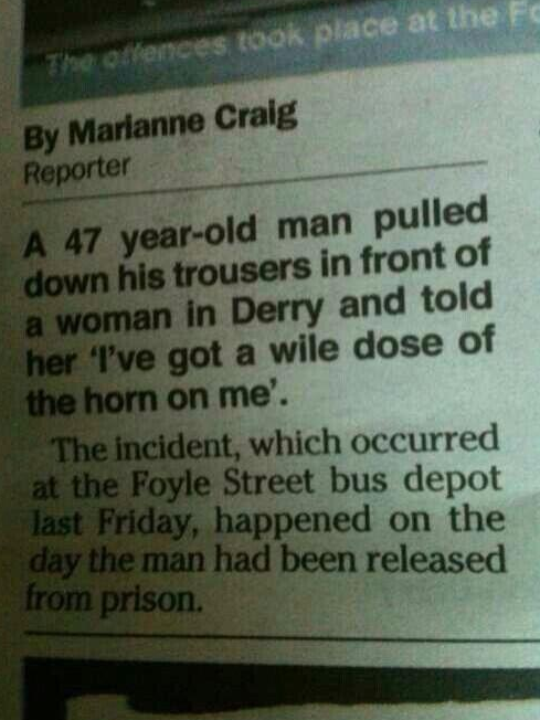 funny northern irish newspaper headlines